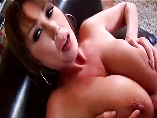 Horny Asian MILF Big Boobs made Cup Cakes in Kitchen