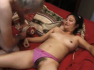 Hardcore with Asian young couple