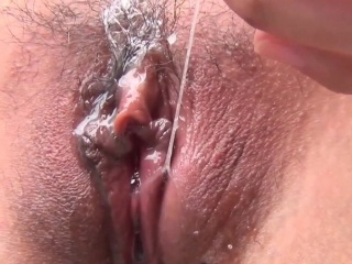 Tiny asian masturbating