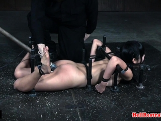 Cute asian sub gets her pussy toyed wits master