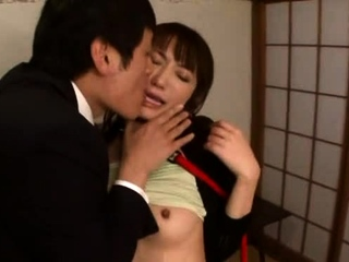 Swingeing japanese maid Saki Kouzai gets penetrated deep